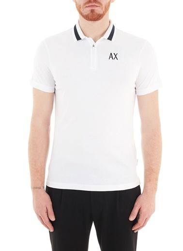 Armani Exchange  % 100 Pamuklu Polo T Shirt Erkek Polo S 6Hzfal Zjv5Z 1100 Beyaz